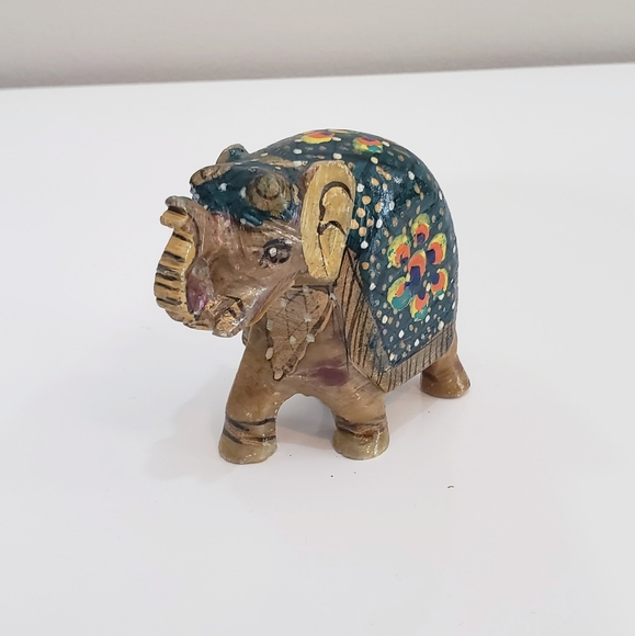 Stone Hand Painted Elephant